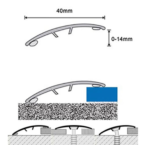 Dural Multifloor Barre Porte Seuil bande couverture plaque plancher laminé or 0.9 m