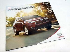 Image Is Loading 2016 Toyota Highlander Brochure
