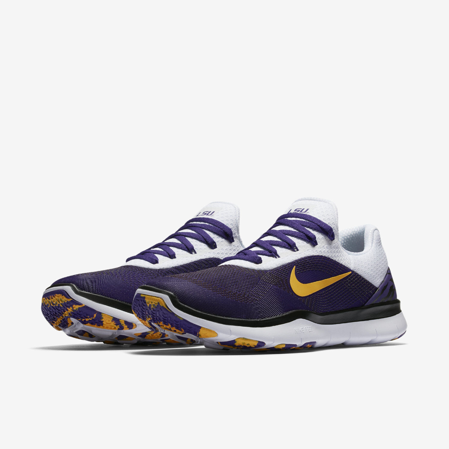 abcb6d1212d3d Nike Nike Nike Free Trainer Week Zero LSU Tigers Sizes 12 14 Shoes  AA0881-500 Louisiana f3463c