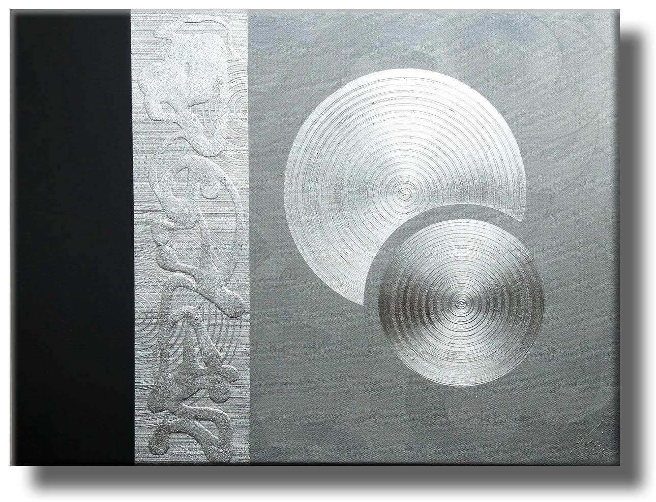 MALEREI KUNST Original abstrakt Bilder HANDGEMALT 80x60 Leinwand C. GOETHE
