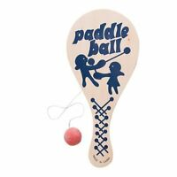 Paddle With Attached Rubber Ball Wooden 10 Inch Good Way To Make The Hours Go