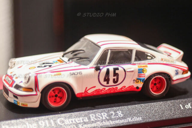 PORSCHE 911Carrera N°45 KREMER 8° Le MANS 73 Schickentanz 1/43 Minichamps