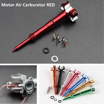 Red Easy Adjustable Fuel Mixture  CNC Adjuster Screw Car Auto SUV Air Carburetor