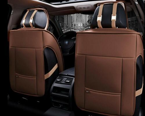 1+1 Vordere Elegant Autositzauflagen Braune Kunstleder Komfort Schonauflagen Neu