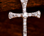"Solid Silver CZ Cross Pendant 925 Sterling Silver 18/"" Silver Box Chain Necklace"