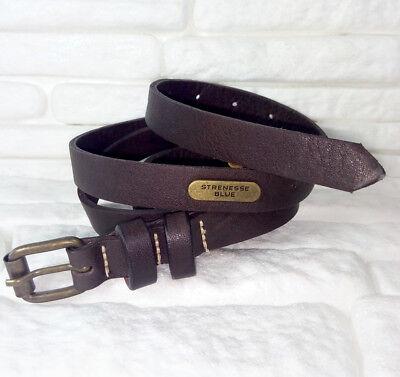 Intelligente Strenesse Blue Made In Germany Cintura Donna Marrone Vera Pelle De 34 Comodo E Facile Da Indossare