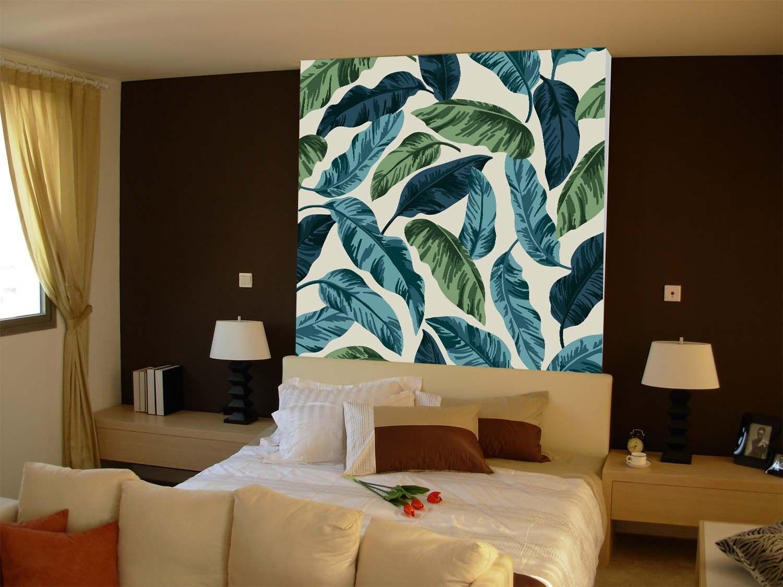 3D bluee Green Leafs 7 Wall Paper Murals Wall Print Wall Wallpaper Mural AU Lemon