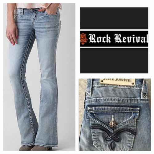 7bb773f7591268 Rock Revival Luna Bootcut Jeans LT Blue 26 for sale online | eBay