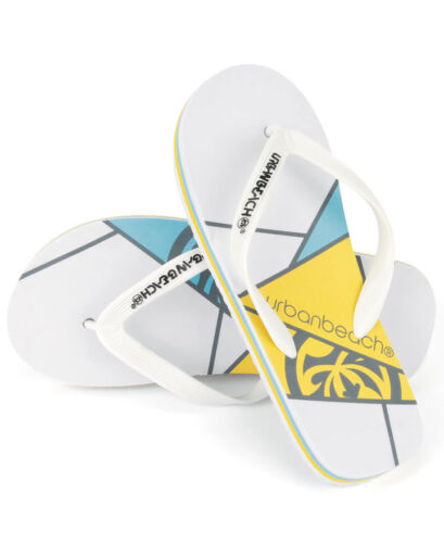 Urban Beach Branded Geometric Angle Childrens Flip Flops Beach Kids Adults Shoes