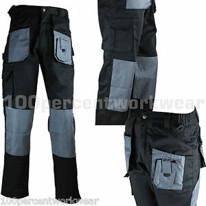 1x-Pair-Blackrock-Workman-Mens-Cargo-Combat-Work-Trousers-Pants-Knee-Pad-Pockets
