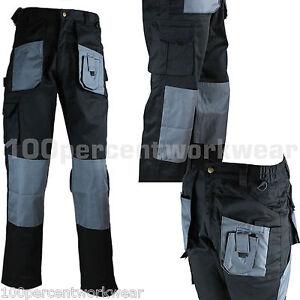 Blackrock-Workman-Mens-Trade-Cargo-Combat-Work-Trousers-Pants-Knee-Pad-Pockets