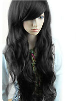 HOT WOMEN GIRLS FULL WAVY HAIR WIG SEXY LONG FASHION CURLY FULL Balck Brown WIGS