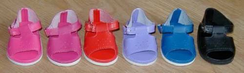 NIP-red sandals for  American Girl Bitty Baby dolls