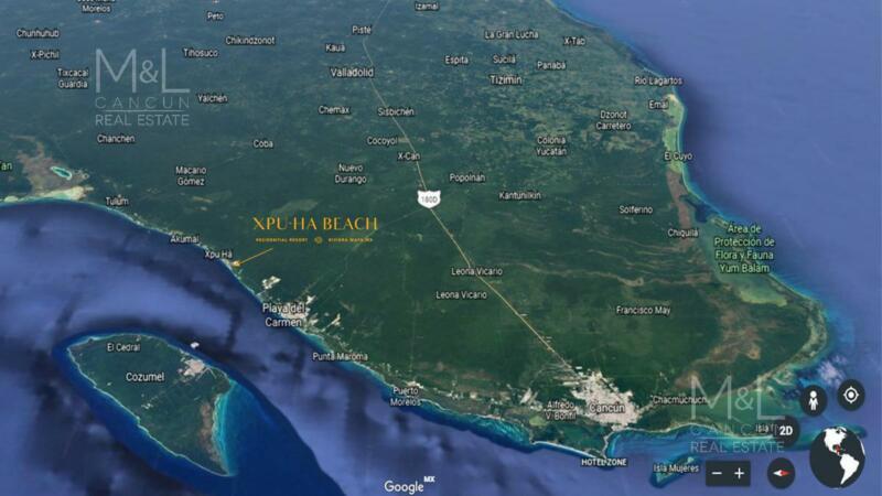 Terreno en Venta XPU-HA BEACH BRISA 600 m2 con Club de Playa. Riviera Maya