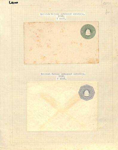 LA100 1890 *BRITISH GUIANA* Embossed Cover {samwells-covers}PTS