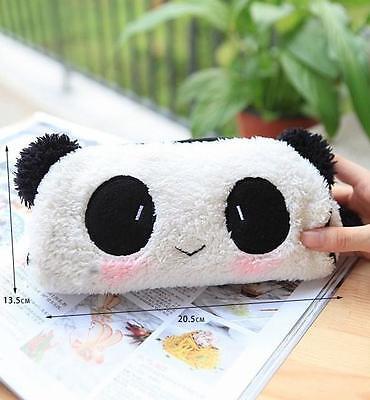 FA UK Panda Soft Plush Pencil Case Pen Pocket Cosmetic Makeup Zipper Bag Pouch