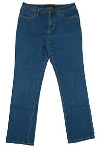 Baccini-Women-039-s-Embroidered-Mid-Rise-Stretch-Jeans-Size-10P-Dark-Wash