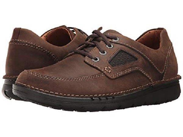 Clarks Men's UnNature Time US 12 M Brown Oiled Leather Oxfords shoes