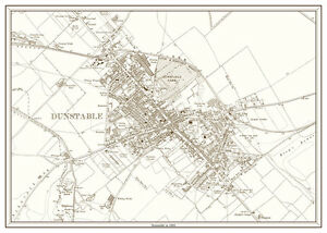 Dunstable Bedfordshire as it was in 1925 a new old map eBay