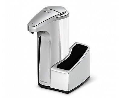 simplehuman sensor soap pump with caddy, brushed nickel finish - 13 fl. oz.