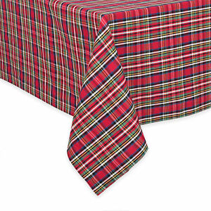 image is loading lenox plaid tartan dazzle nouveau holiday christmas tablecloth