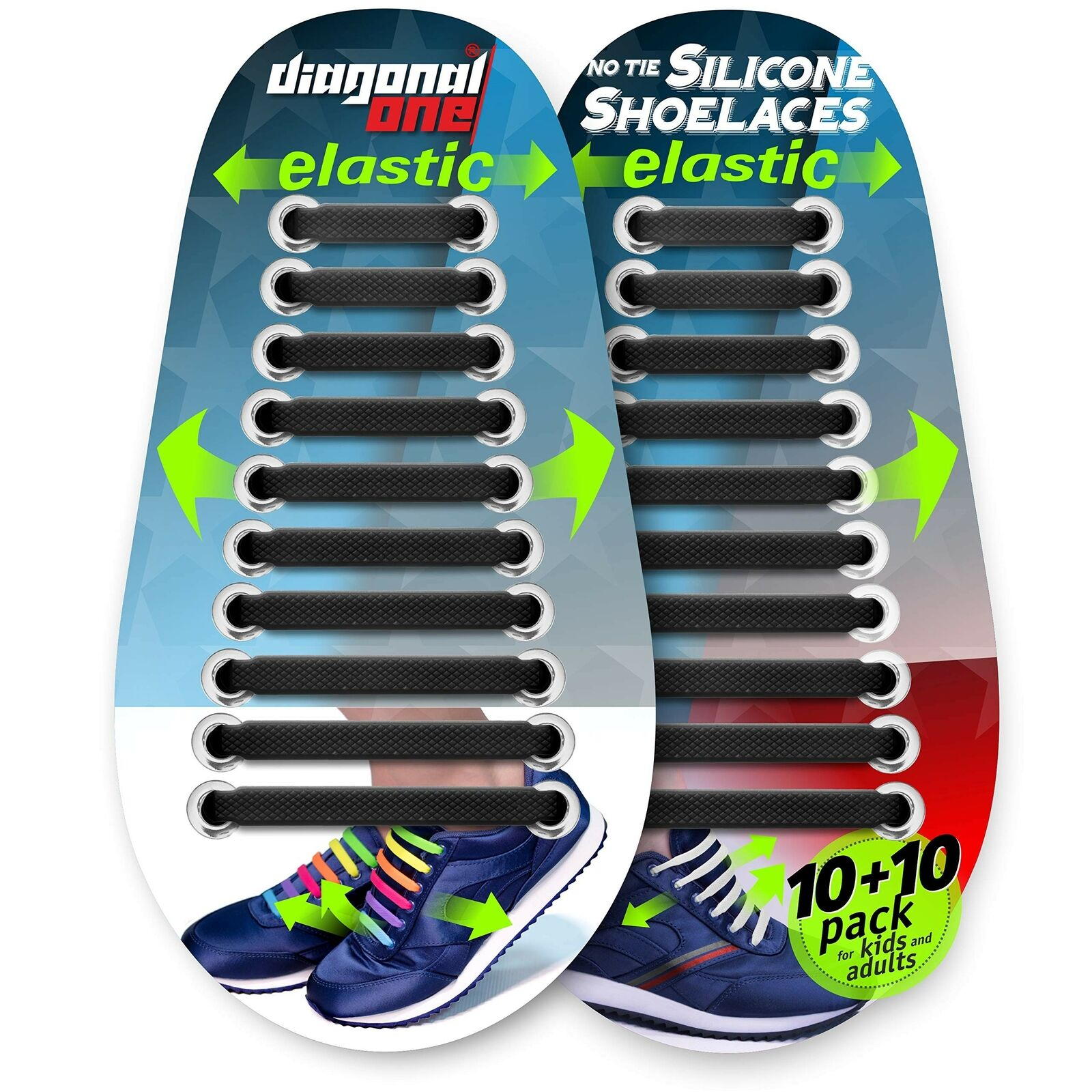 Details about  /16Pcs No Tie Silicone Adult Kid Shoelaces Rubber Slip Easy Sneaker Shoe Lace