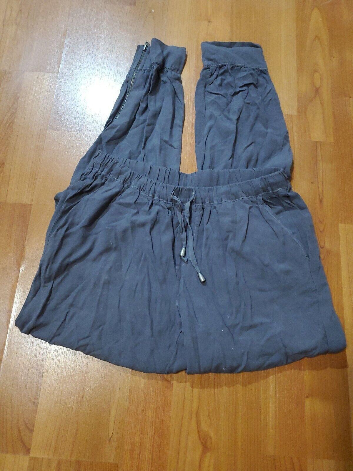 splendid athletic woven rayon pants dark grey size s