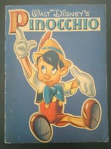 Walt Disney's Pinocchio With Pictures To Color Used 1939 Whitman Publishing
