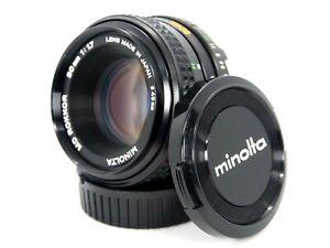 Minolta Original MD ROKKOR 50mm f/1.7 MF Lens SR Mount w/ F.R Lens Cap