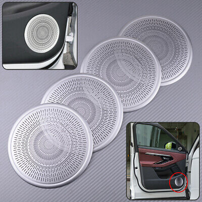 4pcs Door Speaker Cover LLKUANG for Range Rover Evoque 2019 2020 Door Tweeter Speaker Cover Ring Aluminium Alloy