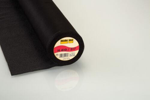 25m Rolle Vlieseline H410 schwarz Bügeleinlage fixierbar 90cm breit  H 410