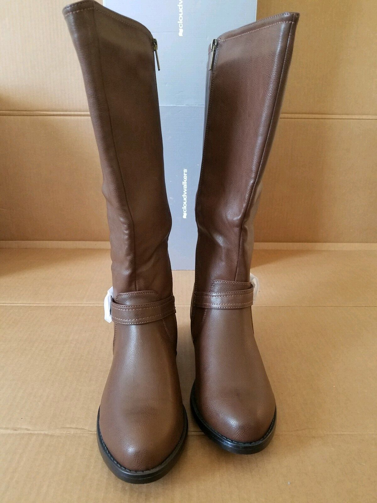 Brand New Cloudwalkers Clayton Brown Wide Calf Tall Boots Women Size 11 Wide