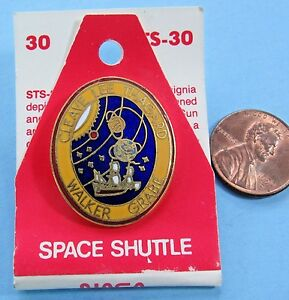 Vintage NASA Space Shuttle Mission STS-30 Atlantis Commemorative Enamel Pin