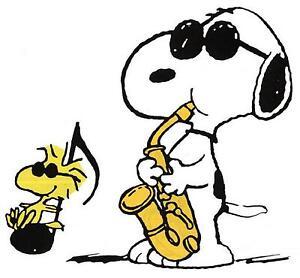 Peanuts # 13-8 x 10 Tee Shirt Iron On Transfer Woodstock /& Snoopy w//saxophone