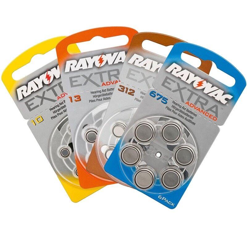 RAYOVAC EXTRA ADVANCED Hörgerätebatterie Knopfzellen Typ Zink-Luft
