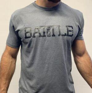 Battlebox UK WOD 2.0 Sueded T-shirt  CrossFit Fitness Gym White Black Union Jack