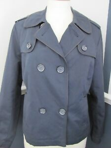 Womens-Autograph-Jacket-Coat-Mac-Navy-Light-Weight-Style-Double-Breast-Lined-14
