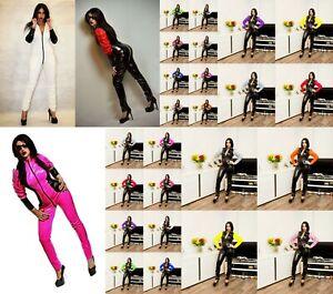 f87f6ebc503 PVC Catsuit Jumpsuit Black White Red Blue Purple Yellow 26-30 UK New ...