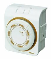 Woods 50002 Indoor 7-day Heavy Duty Mechanical Outlet Timer , New, Free Shipping