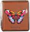 縮圖 7 - Cigarette Case 20 King Size Metal / Leather Look Braun/Rubber Band / 6 Models