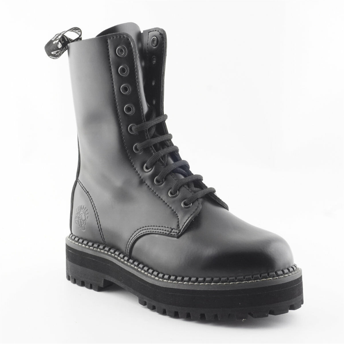 Women's Grinders Taylor Taylor Taylor CS Black 10 eyelet Non Steel Toe Derby Boot 4fb56c