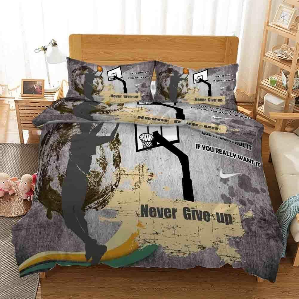 Jumping Basketball 3D Printing Duvet Quilt Doona Covers Pillow Case Christmas