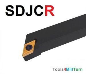 Drehmeissel-Drehen-SDJCR-1212-H11-mit-10-Wendeschneidplatten-NEU
