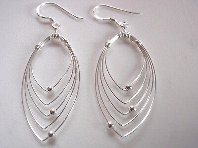 Long Sleek Curved Pins 925 Sterling Silver Pendant Corona Sun Jewelry