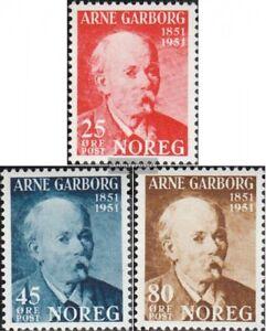 Norwegen-369-371-kompl-Ausg-postfrisch-1951-Arne-Garborg