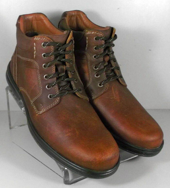 5912352 4-MSBT50 Men's Shoes Size 12 M Brown Leather Boots Johnston & Murphy