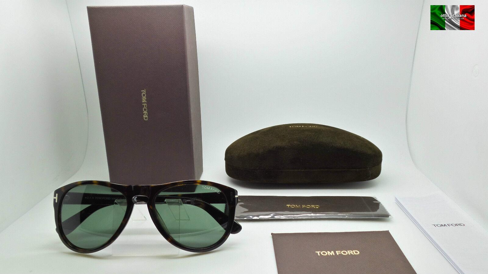 e5d710b302 Tom Ford TF 347 Kurt 56r Havana Green Authentic Sunglasses Rl917