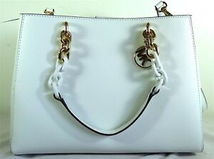 84cf8ee0b45f Image is loading Michael-Michael-Kors-Cynthia-Medium-White-Saffiano-Leather-