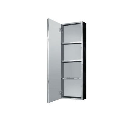 sports shoes 1b9de d2945 TOP QUALITY TALL STAINLESS STEEL MIRRORED BATHROOM CABINET CUPBOARD HUNG 3  SHELF | eBay