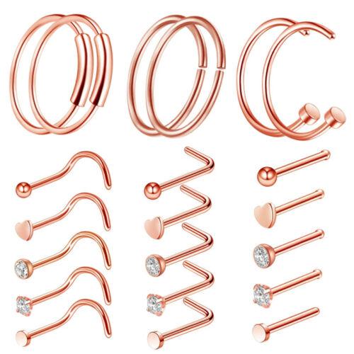 Nasenbügel L-förmiger Nasenringsatz OP-Stahl Ohrstecker Body Piercing 20G